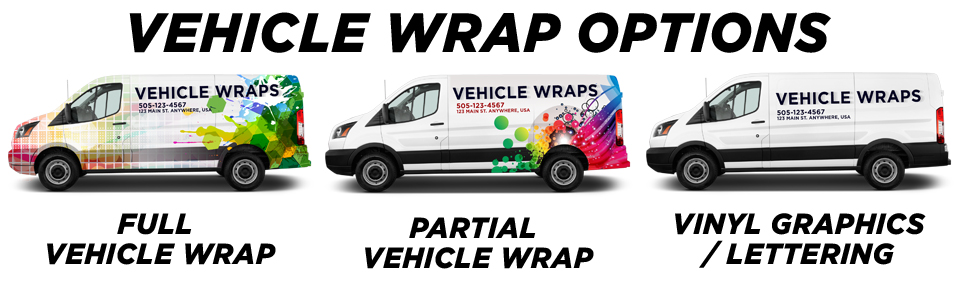 Irvine Vehicle Wraps vehicle wrap options