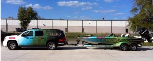 custom attractive boat wrap